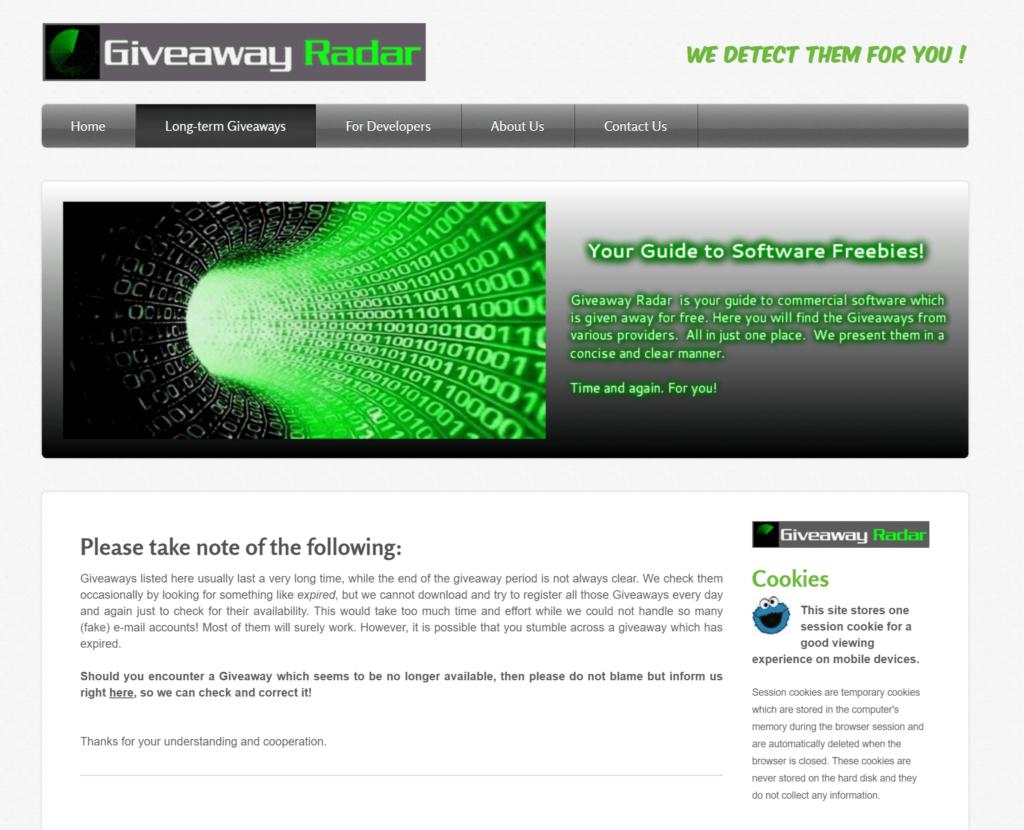 GiveawayRadar | Free Paid Software
