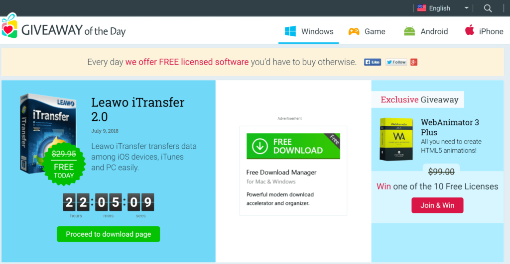 Top 10 websites download paid software for free - Giveawayoftheday