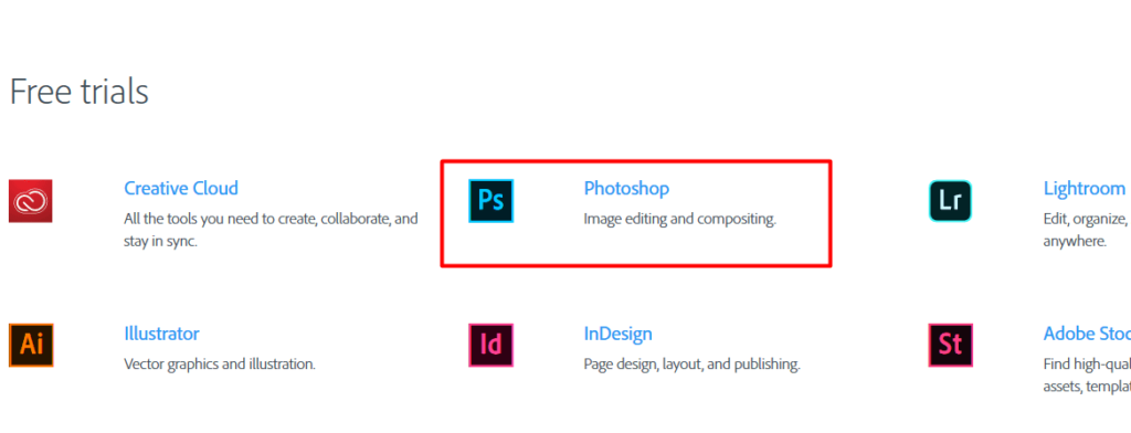 Download Adobe Photoshop CC Full Version 1 week for Free - product list