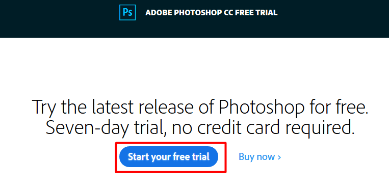 Download Adobe Photoshop CC Full Version 1 week for Free trail