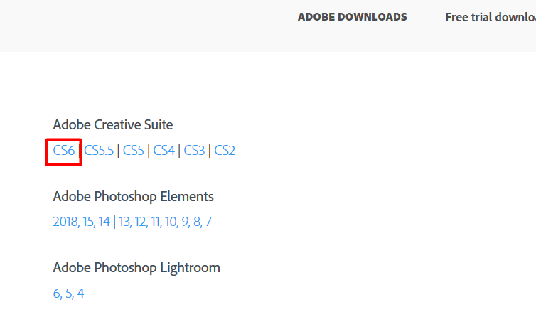 Download Adobe Photoshop CS6 Full Version 1 Month Trial for Free - CS23 CS4 CS5