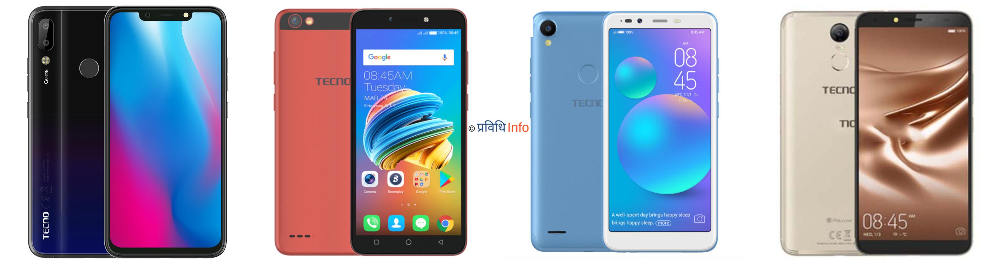 TECNO Mobile Price in Nepal 2019