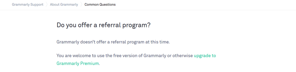 Does grammarly offer referral program