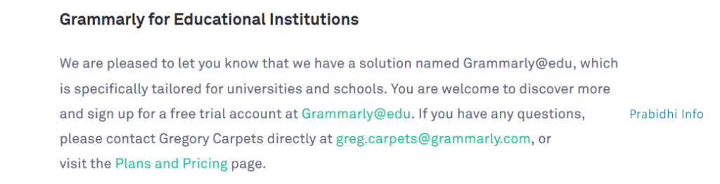 Grammarly Premium Free Trial for Grammarly EDU - Educational Institutions