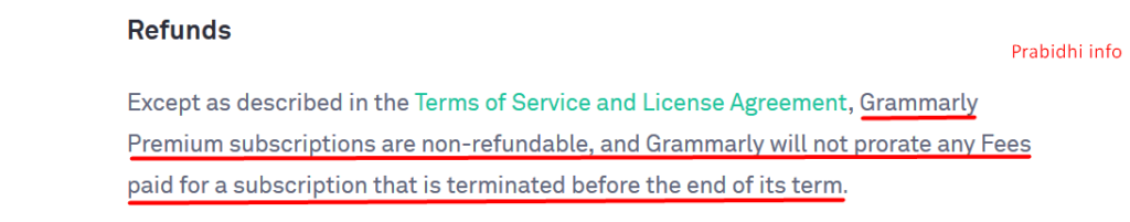 Grammarly Premium Free Trial using a refund