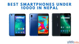 Best Smartphones under Rs 10000 in Nepal