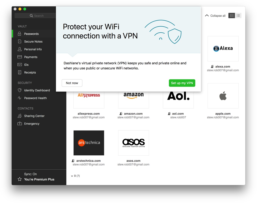 Dashlane Review 2019 Premium VPN Desktop Mac