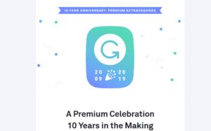 Grammarly premium 10 year Anniversary