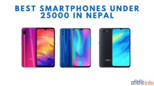 Best Smartphones Rs 25000 under in Nepal