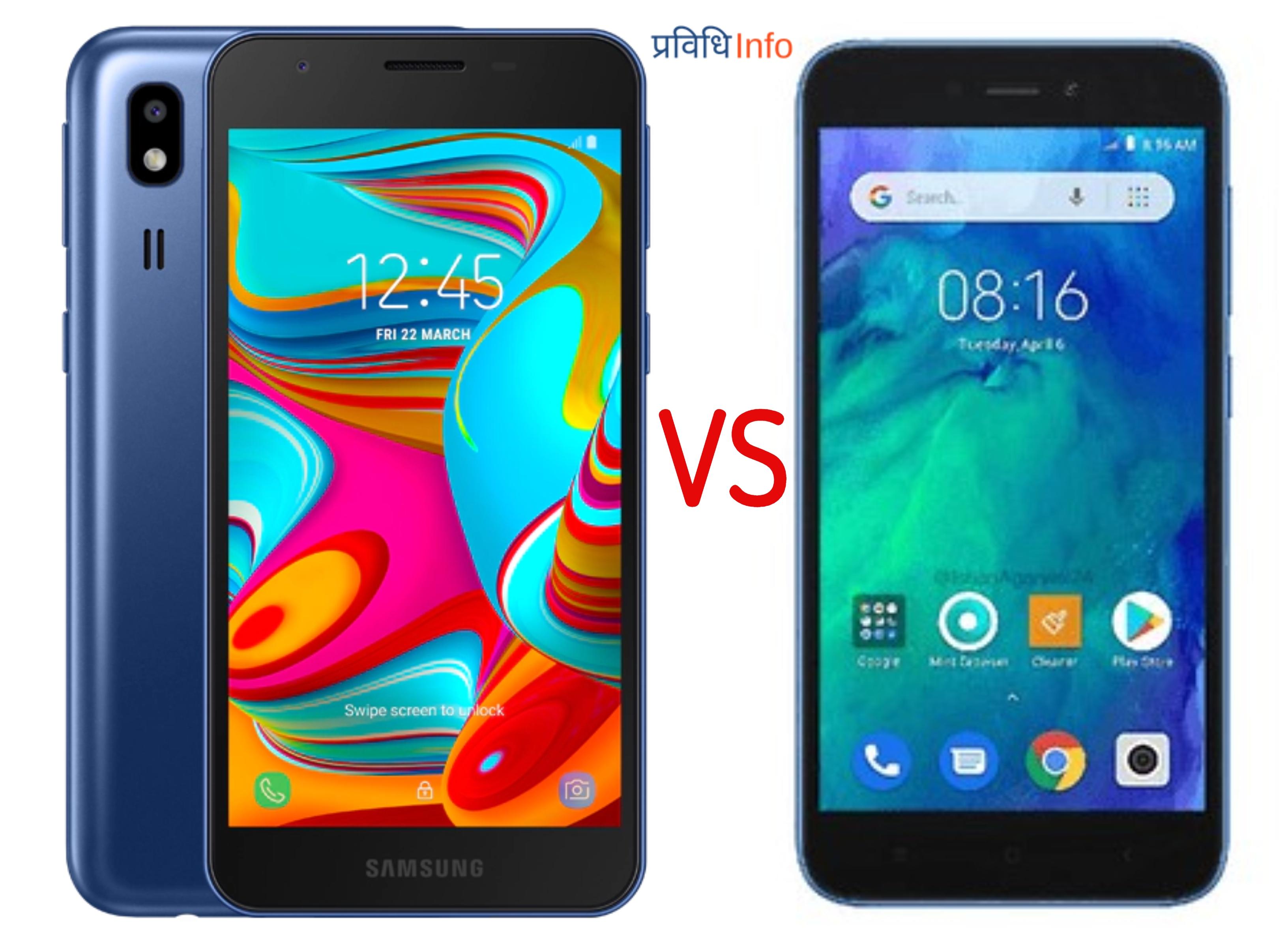 Samsung Galaxy A2 Core vs Xiaomi Redmi Go Compare Overview