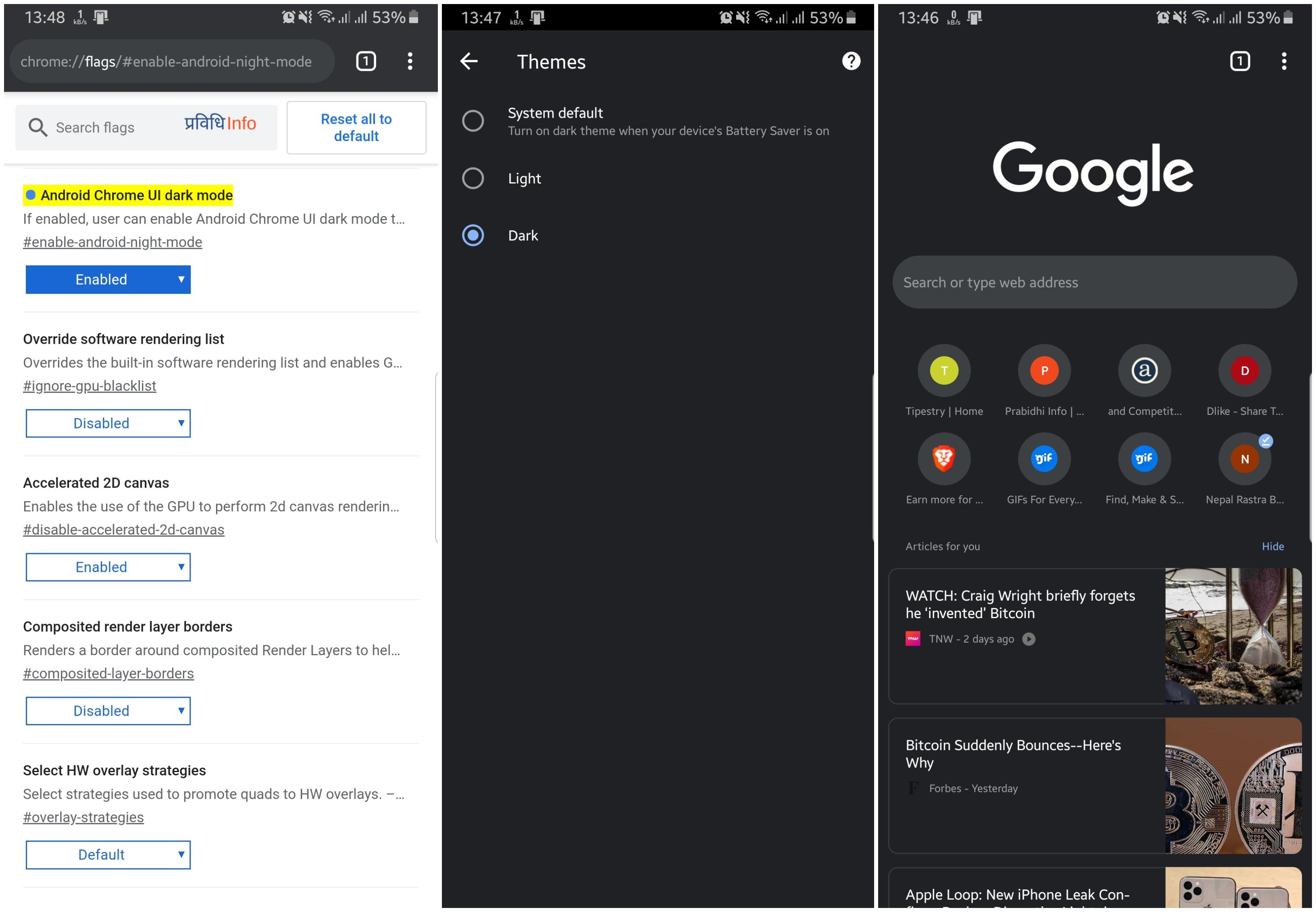 How to enable Dark Black Theme on Chrome