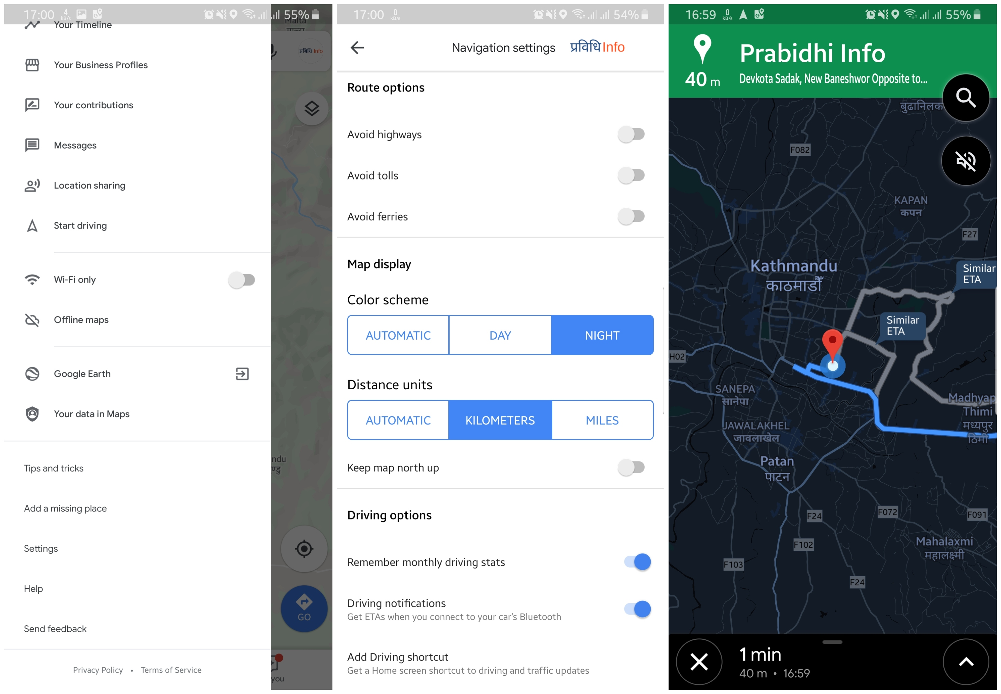 How to enable Night Mode on Google Maps Android
