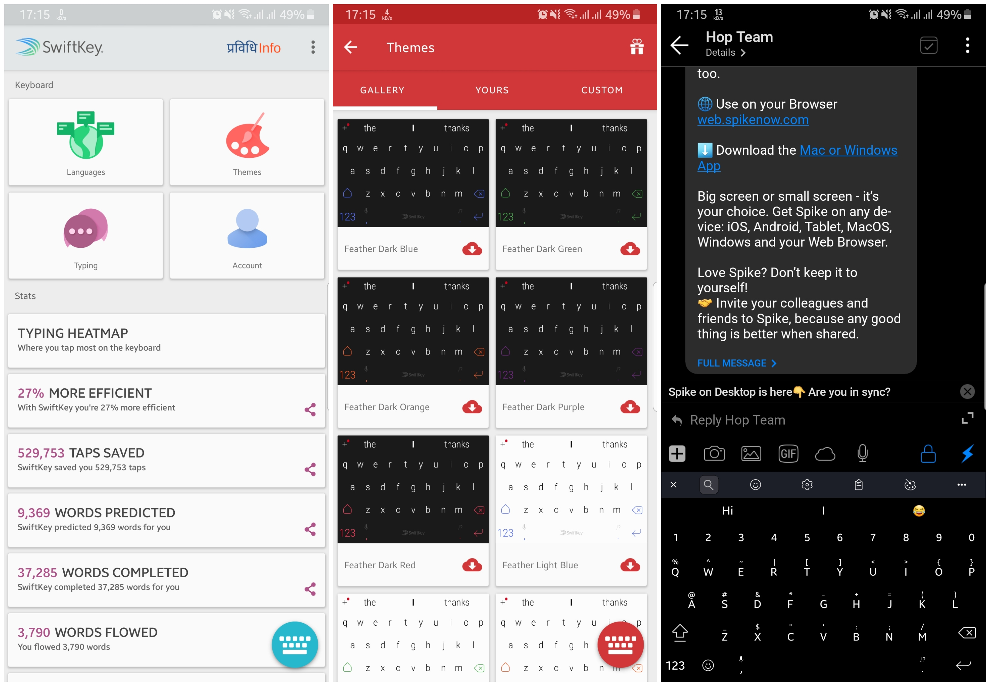 Swiftkey Keyboard Android Dark Night Mode