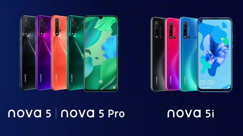 Huawei Nova 5i, 5 & 5 Pro Price in Nepal