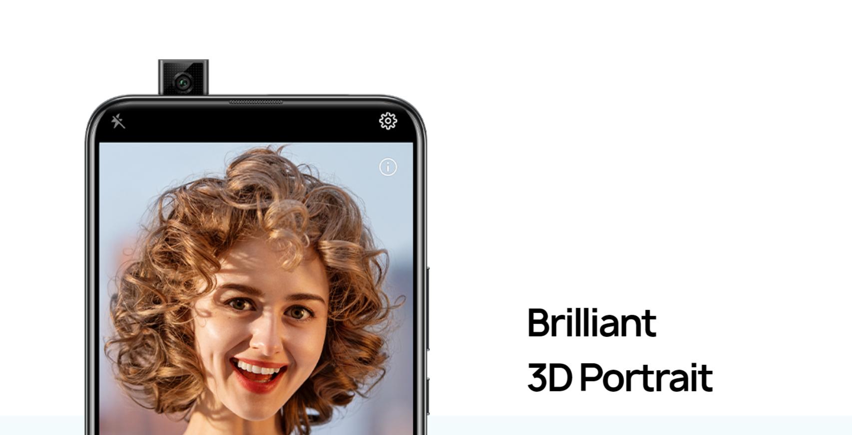 Huawei y9 prime pop-up camera