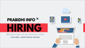 Prabidhi Info Job Vacancy