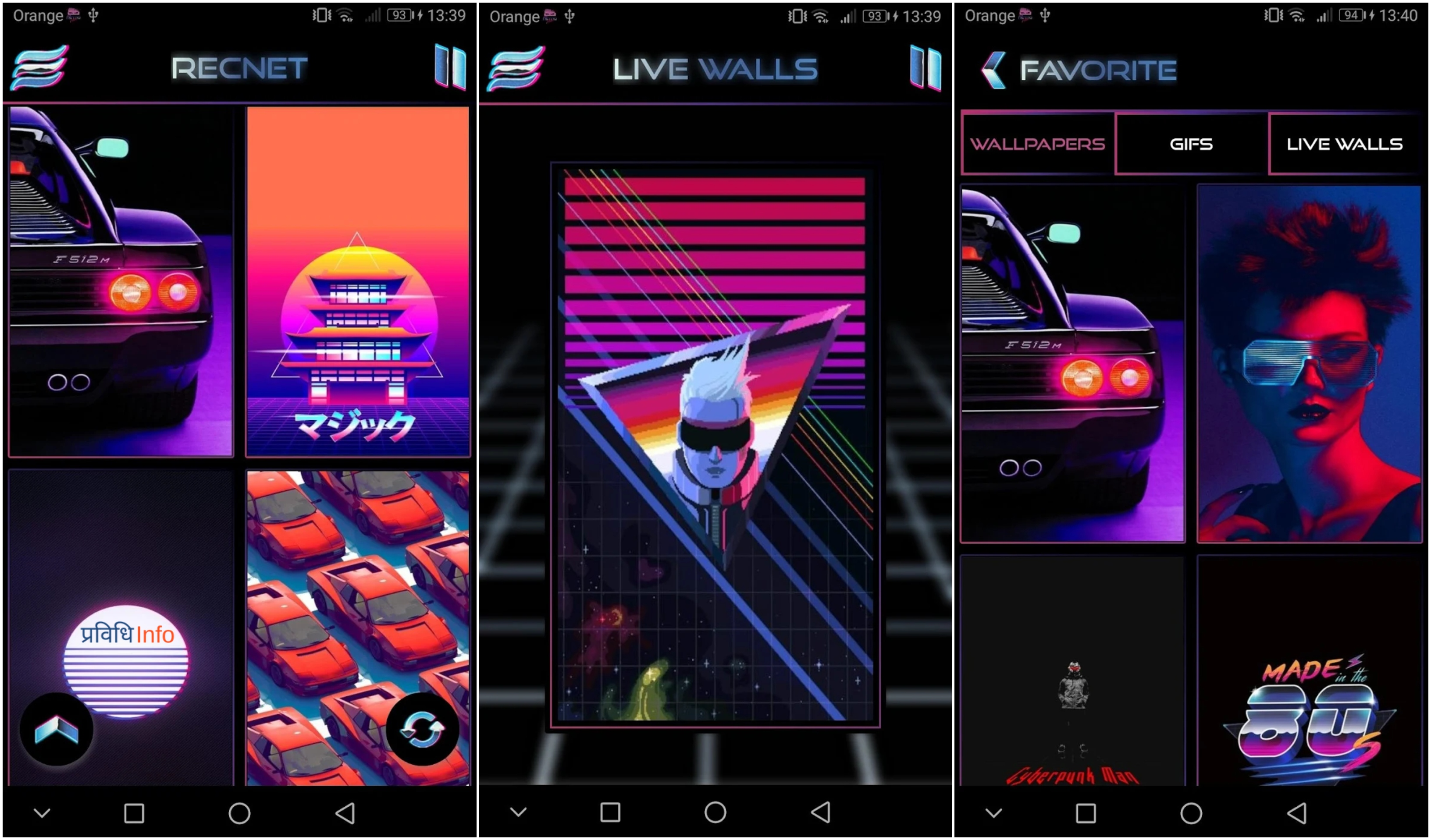 RetroWave Wallpapers - Top 10 Unique & Best Free Android Apps – July 2019