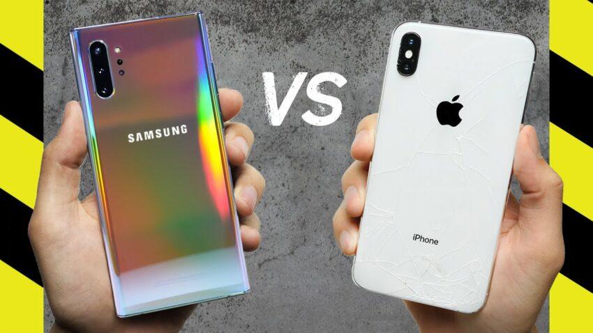Galaxy Note 10+ vs iPhone XS Max Drop Test