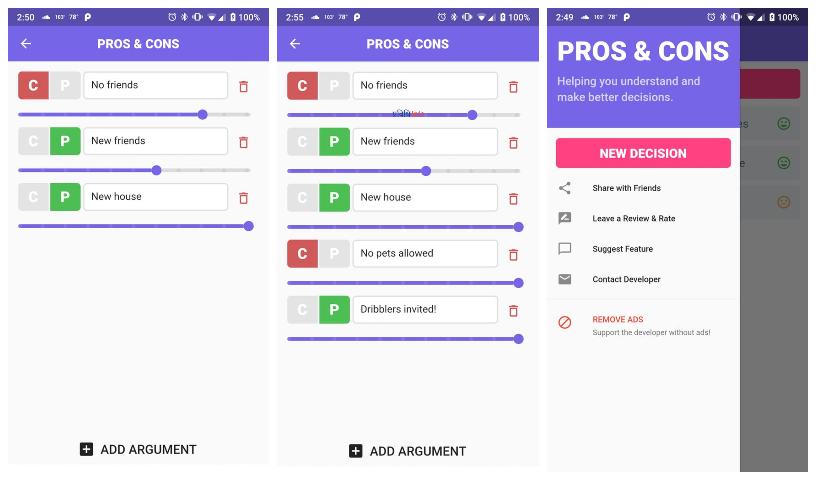 Pros & Cons Top unique apps August 2019