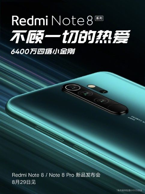 Redmi Note 8 Pro Poster Revealed
