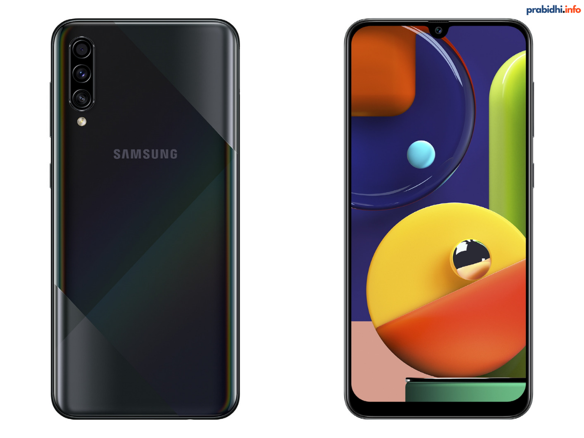 Samsung A50s Back and Front