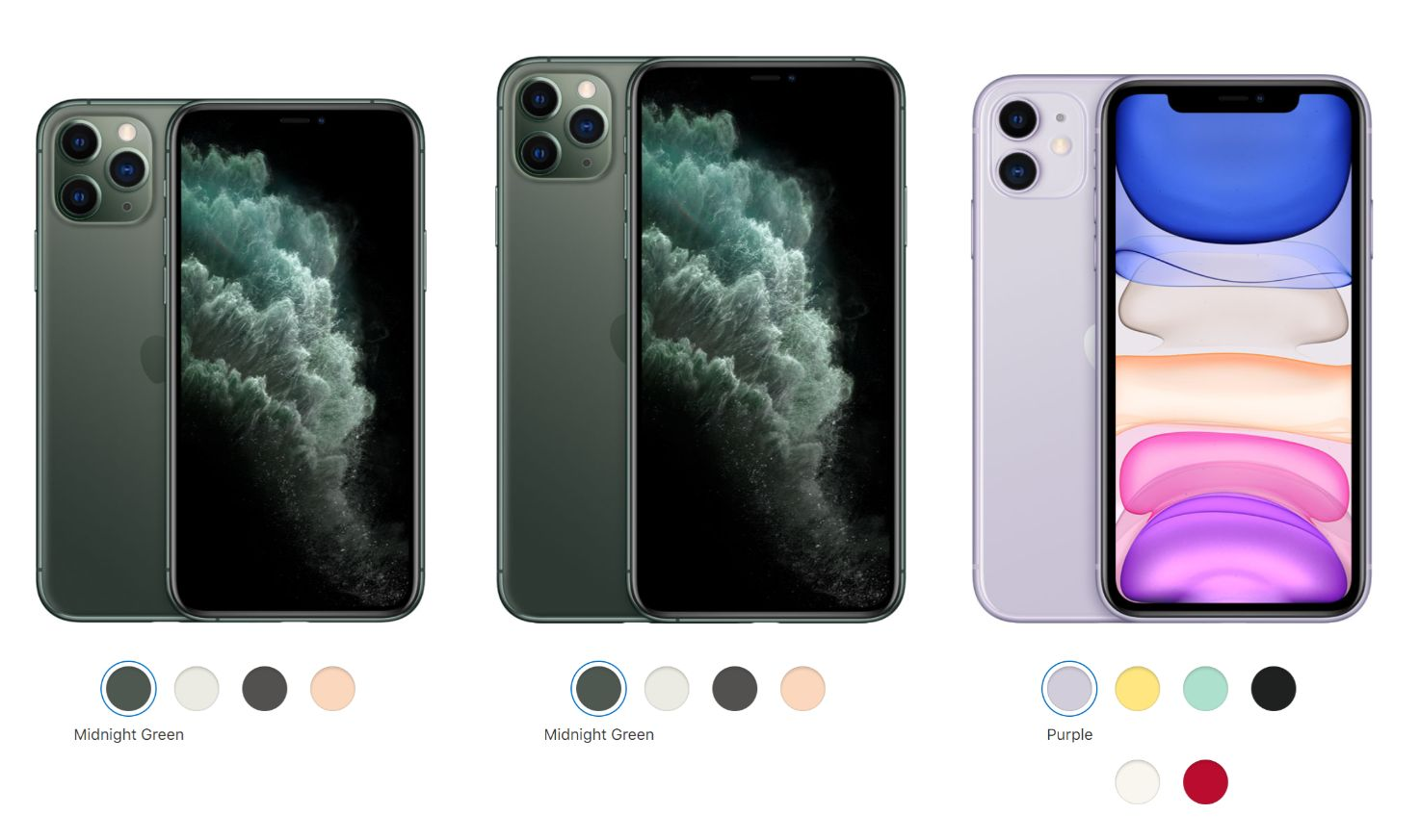 2019 iPhone 11 Series compared