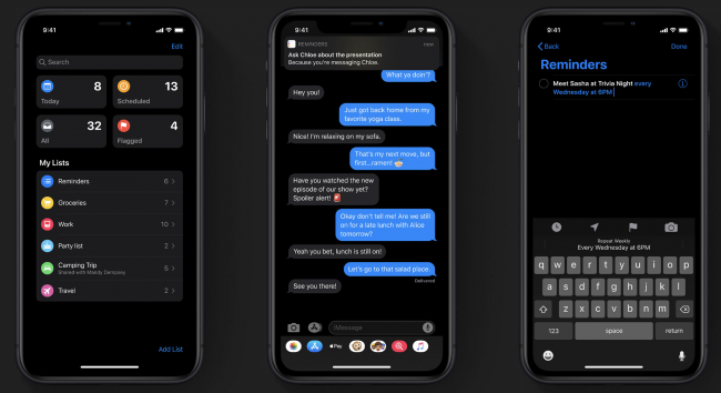Apple-iOS-13-dark-mode-on-iPhone-11-iPhone-11-Pro-and-iPhone-11-Pro-Max