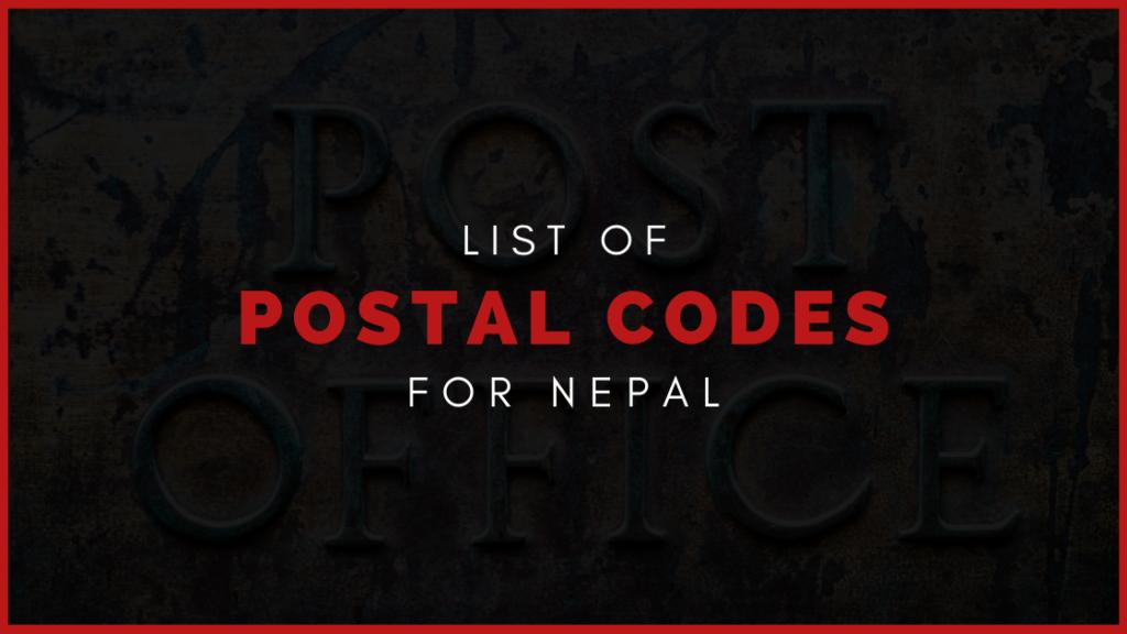 Postal Code (PIN code, ZIP code) for Kathmandu Nepal Apple ID Blog banner art