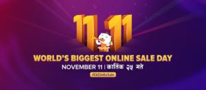 Daraz Nepal 11.11 Sale Day 2019