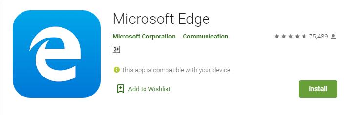 microsoft edge android app