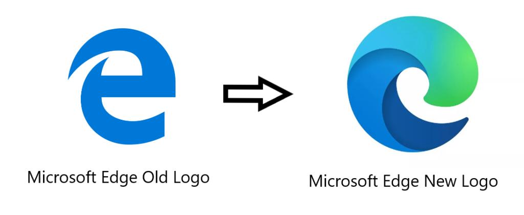 Microsoft edge old logo-new logo