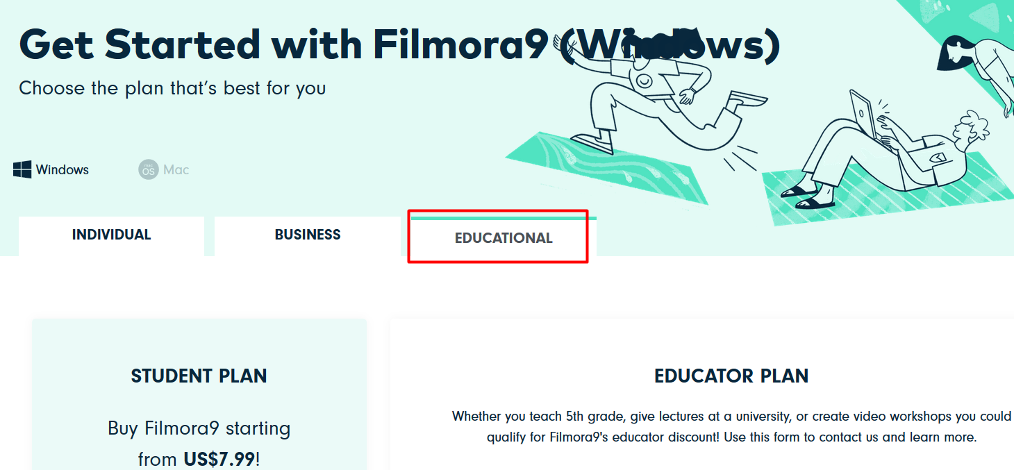 Filmora9 Educational Plan for educator discount