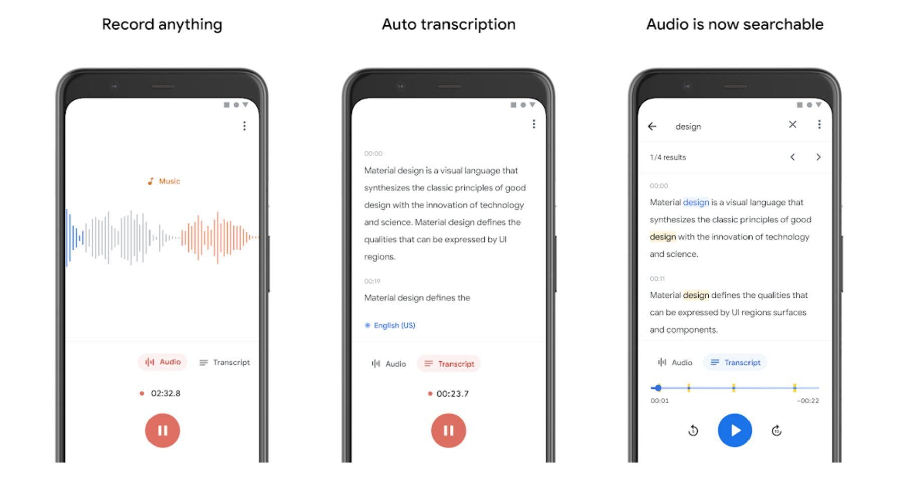 Google Recorder - Best Free Android Apps December 2019