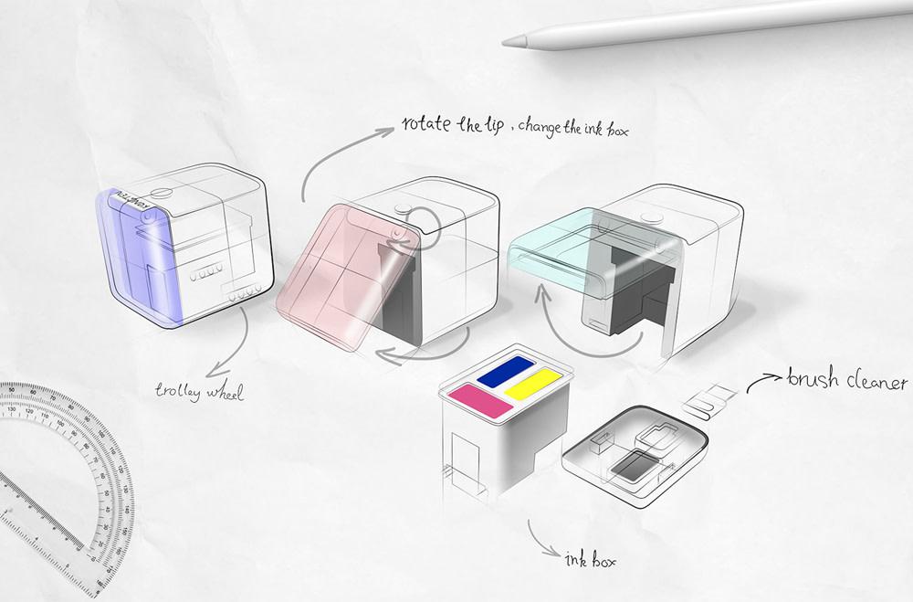 PrinCube Handheld Printer Design