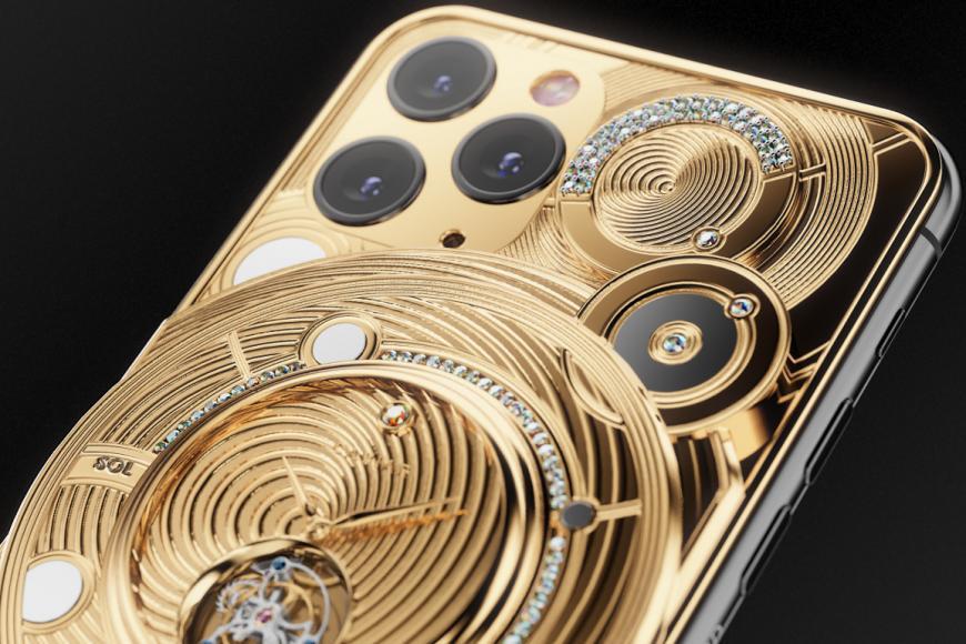 caviar iphone 11 pr0 137 yellow diamond