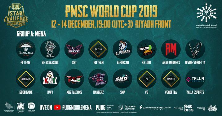 pmsc worldcup 2019 teams
