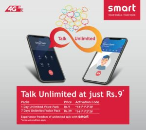 smart telecom talk unlimited at just Rs 9 offer