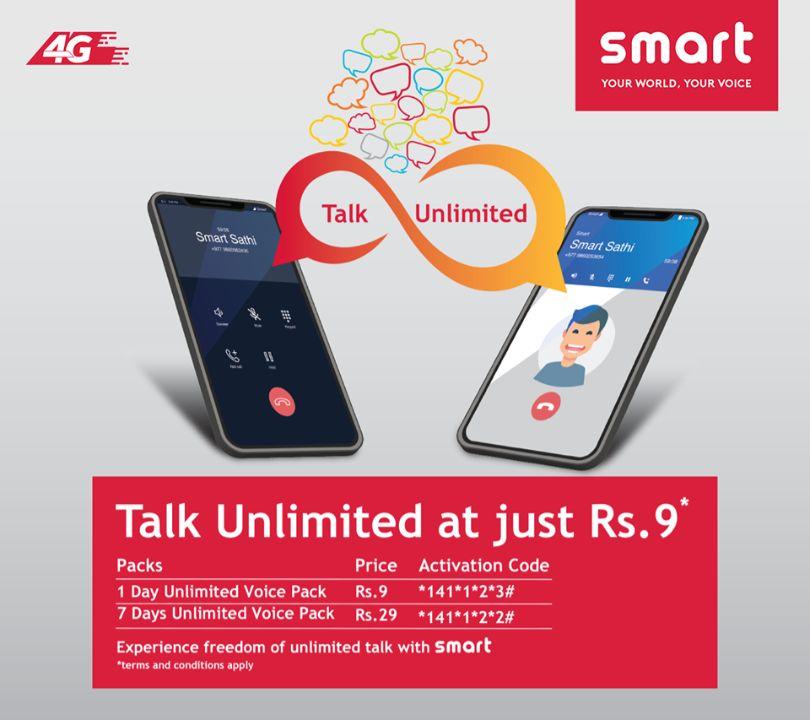 smart telecom talk unlimited at just Rs 9 offer