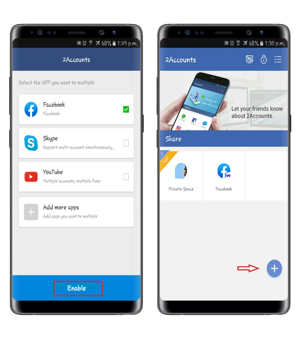 2account android app