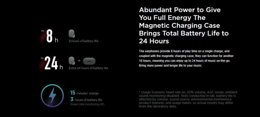 Amazfit PowerBuds battery