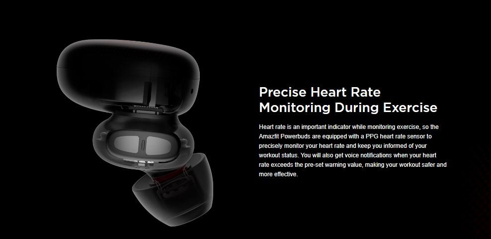 Amazfit PowerBuds heart rate sensor