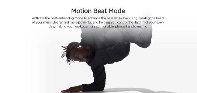 Amazfit PowerBuds motion beat mode