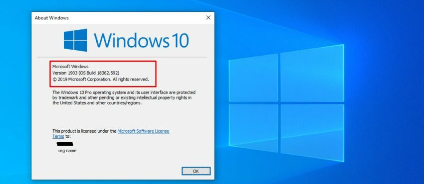 How to find check Windows 10 build and version number