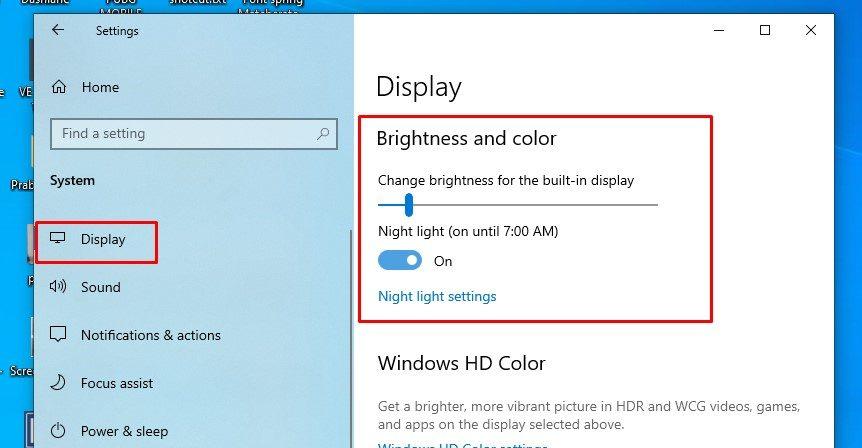 Windows 10 Night Mode