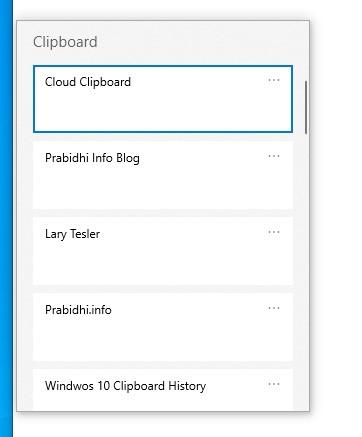 Windows 10 clipboard history win key + v