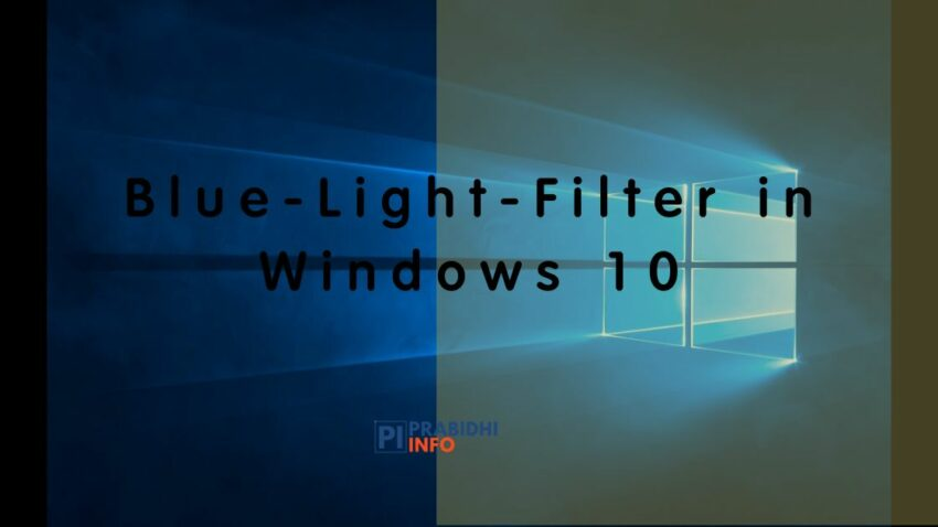 how to enable blue light filter-night mode in windows 10