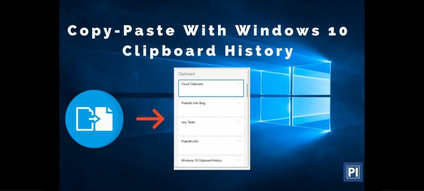 how to enable-disable Windows 10 clipboard history