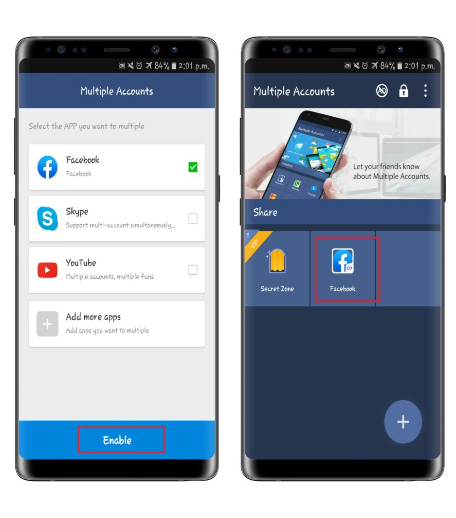 multiple account app cloner android