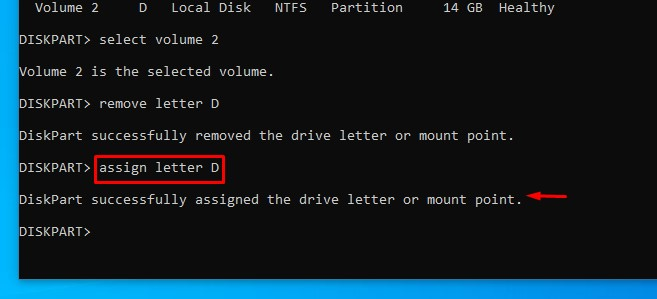unhide drive using cmd