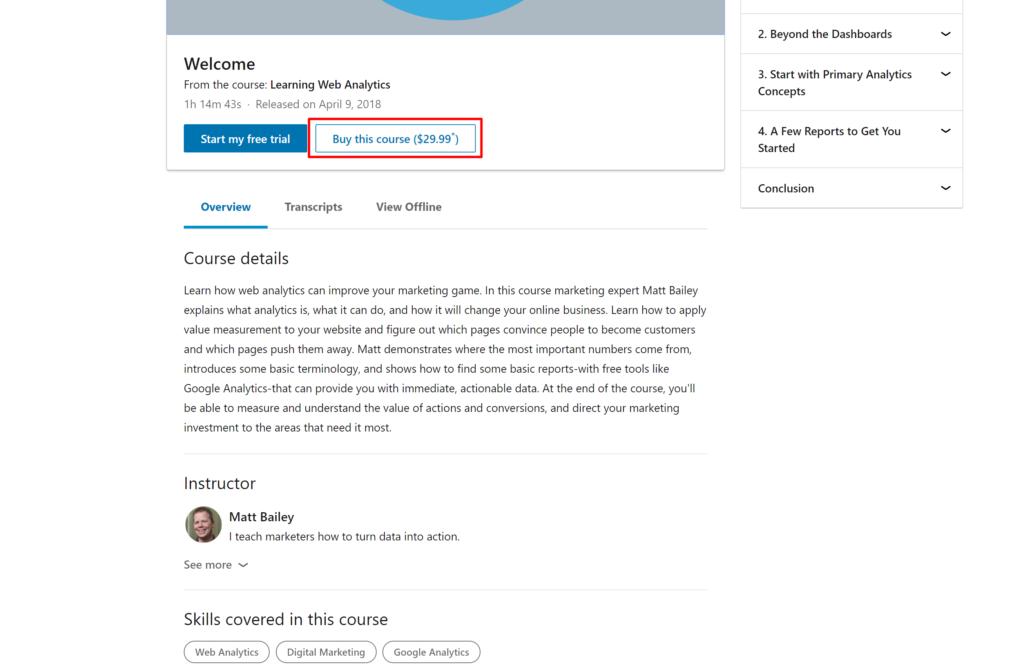 A-la-carte ALC LinkedIn Learning courses Price